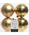 Kerstboom decoratie kerstballen mix goud 4 stuks