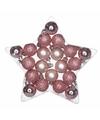 Kerstboom decoratie kerstballen mix roze 20 stuks onbreekbaar