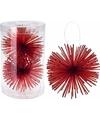 Kerstboom decoratie kerstbol classic red 11 cm