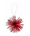 Kerstboom decoratie kerstbol classic red 8 cm