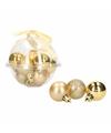 Kerstboom decoratie mini kerstballetjes 3 cm 12 x classic gold