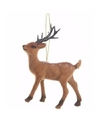 Kerstboom decoratie rendier hanger 13 cm type 3