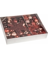Kerstboom decoratie set 33 delig bordeaux lovely classic