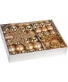 Kerstboom decoratie set 33 delig classic gold