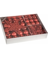 Kerstboom decoratie set 33 delig classic red