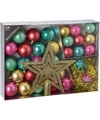 Kerstboom decoratie set 33 delig fantasy classics