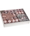 Kerstboom decoratie set 33 delig oud roze romantic classics
