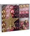Kerstboom decoratie set 45 delig candy classics