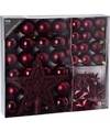Kerstboom decoratie set 45 delig cherry classics