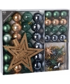 Kerstboom decoratie set 45 delig forest classics