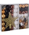 Kerstboom decoratie set 45 delig woods classics