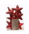 Kerstboom decoratie sterren rood 6 stuks christmas red 7 cm