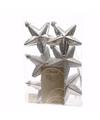 Kerstboom decoratie sterren zilver 6 stuks christmas silver 7 cm