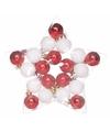 Kerstboom decoratiekerstballen mix rood wit 20 stuks onbreekbaar