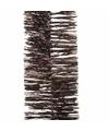 Kerstboom folie slinger donkerbruin 270 cm
