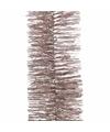Kerstboom folie slinger oud roze 270 cm
