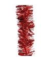 Kerstboom folie slinger rood 200 cm