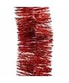 Kerstboom folie slinger rood 270 cm