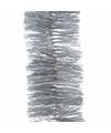 Kerstboom glitter folie slinger zilver 270 cm