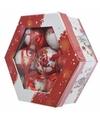 Kerstboom kerstman kerstballen cadeaubox 7 stuks 7 5 cm