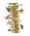 Kerstboom sterren folie slinger goud 270 cm
