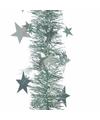 Kerstboom sterren folie slinger mintgroen 270 cm