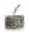 Kerstboom sterren folie slinger zilver 700 cm