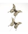 Kerstboom versiering vlinders beige