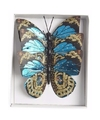 Kerstboom versiering vlinders blauw type 2