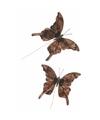 Kerstboom versiering vlinders bruin