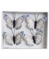 Kerstboom vlinders blauw wit