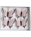 Kerstboom vlinders roze