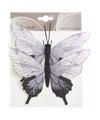Kerstboom vlinders wit lila zwart type 2
