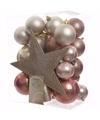 Kerstboomversiering set sweet christmas 33 delig