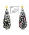 Kerstdorp kerstboom met licht