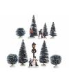 Kerstdorp maken figuurtjes spelende kinderen 26 5 cm type 1