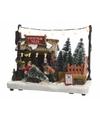 Kerstdorp maken kersthuisje kerstbomen boer met led licht 18 cm