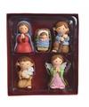 Kerstfiguren 5 polystone figuren