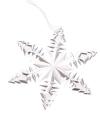 Zilveren ijsbloem voor in de kerstboom 10 cm
