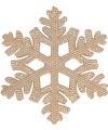 Koperen kerstversiering sneeuwvlok 10 cm
