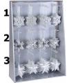 Zilveren ster voor in de kerstboom 10 cm