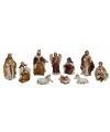 Kerstkribbe figuren 10-delig
