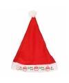Kerstmuts kerstman met licht voor kinderen