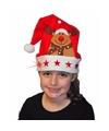 Kerstmuts met rendier en lichtjes voor kinderen