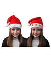 Kerstmuts met witte sterren en lichtjes voor kinderen
