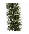 Kerstslinger guirlande groen met sneeuw 270 cm