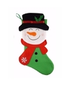 Kerstsok sneeuwpop 48 cm