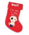 Kerstsok Woof! voor honden