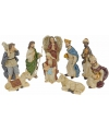 Beeldjes van kerst figuren 9 stuks