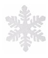 Kerstversiering sneeuwvlok slinger glitter type 1